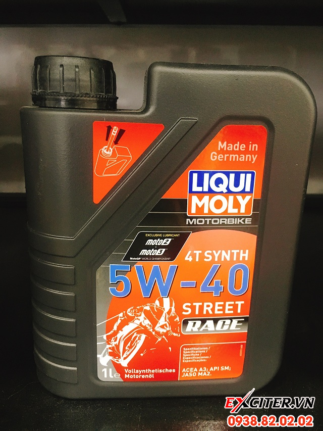 Nhớt liqui moly motorbike synth 4t 5w40 cho exciter 150 - 1