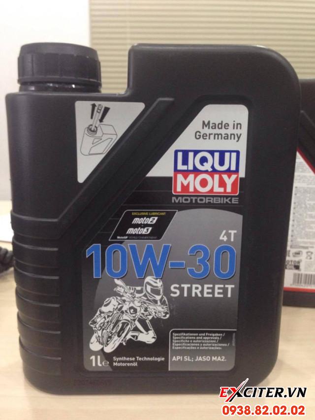 Nhớt liqui moly motorbike street 4t 10w30 cho exciter 150 - 1