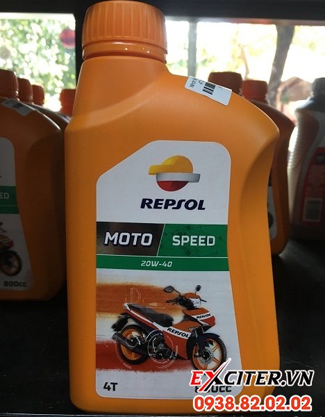 Nhớt repsol moto speed 4t 20w40 cho exciter 150 - 1
