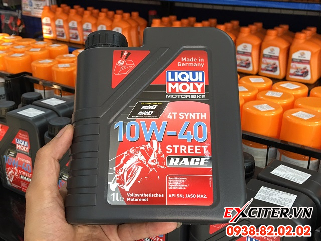 Nhớt liqui moly 4t synth 10w40 street race cho exciter 150 - 1