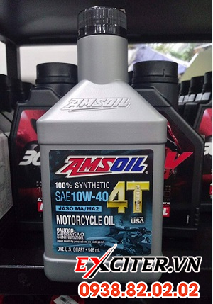 Nhớt amsoil 10w40 performance cho exciter 150 - 1