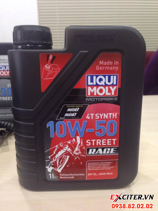 Nhớt liqui moly motorbike synth 4t 10w50 cho exciter 150 - 1