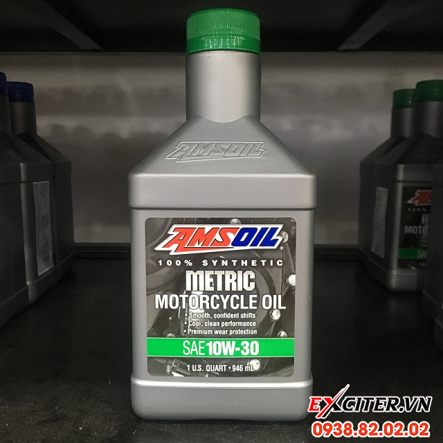 Nhớt amsoil 10w30 synthetic metric cho exciter 150 - 1