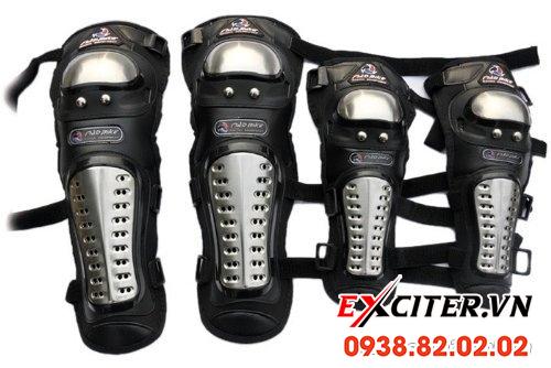 Giáp inox bảo hộ pro biker chính hãng cho exciter 135 exciter 150 - 1