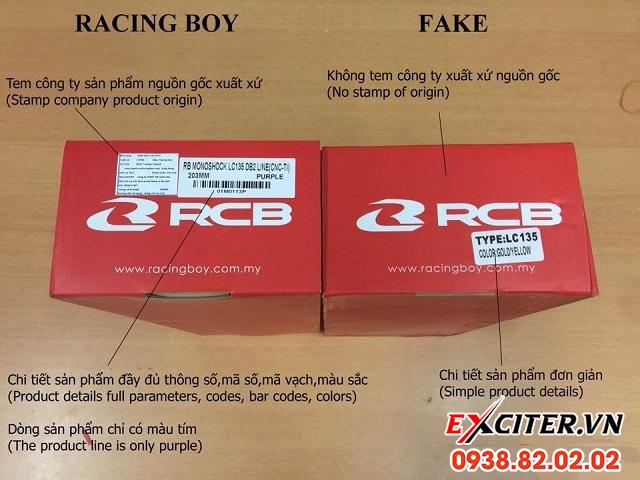 Cách phân biệt phuộc racingboy thật và giả - 2