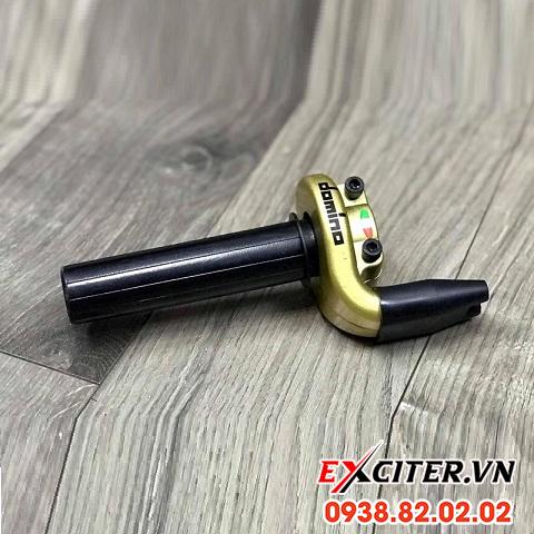Cùm tăng tốc domino 2 dây ga trên màu vàng chính hãng cho exciter 150 và exciter 155 - 1