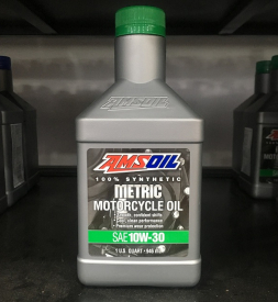 Nhớt Amsoil 10W30 Synthetic Metric cho Exciter 150