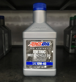 Nhớt Amsoil 10W40 Synthetic Metric cho Exciter 150