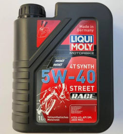 Nhớt Liqui Moly Motorbike Synth 4T 5W40 cho Exciter 150