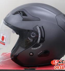 Nón bảo hiểm KYT Venom 3/4 (trắng/đen trơn) cho Exciter 135, Exciter 150