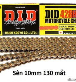 Sên DID vàng 428HD chính hãng 122 mắt (10 mm) cho Exciter 150