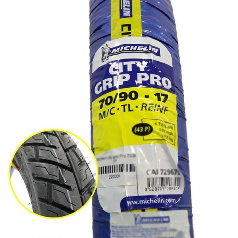 Vỏ Michelin City Grip Pro 70/90-17 cho Exciter