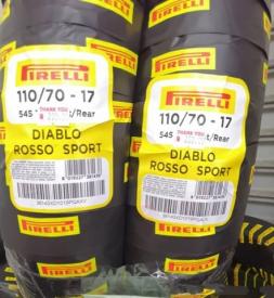 Vỏ Pirelli Diablo Rosso Sport 110/70-17 cho Exciter