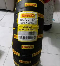 Vỏ Pirelli Diablo Rosso Sport 120/70-17 cho Exciter