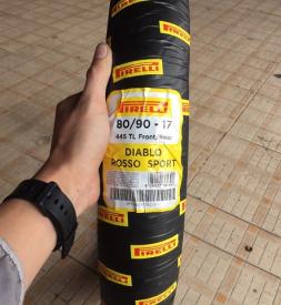 Vỏ Pirelli Diablo Rosso Sport 80/90-17 cho Exciter