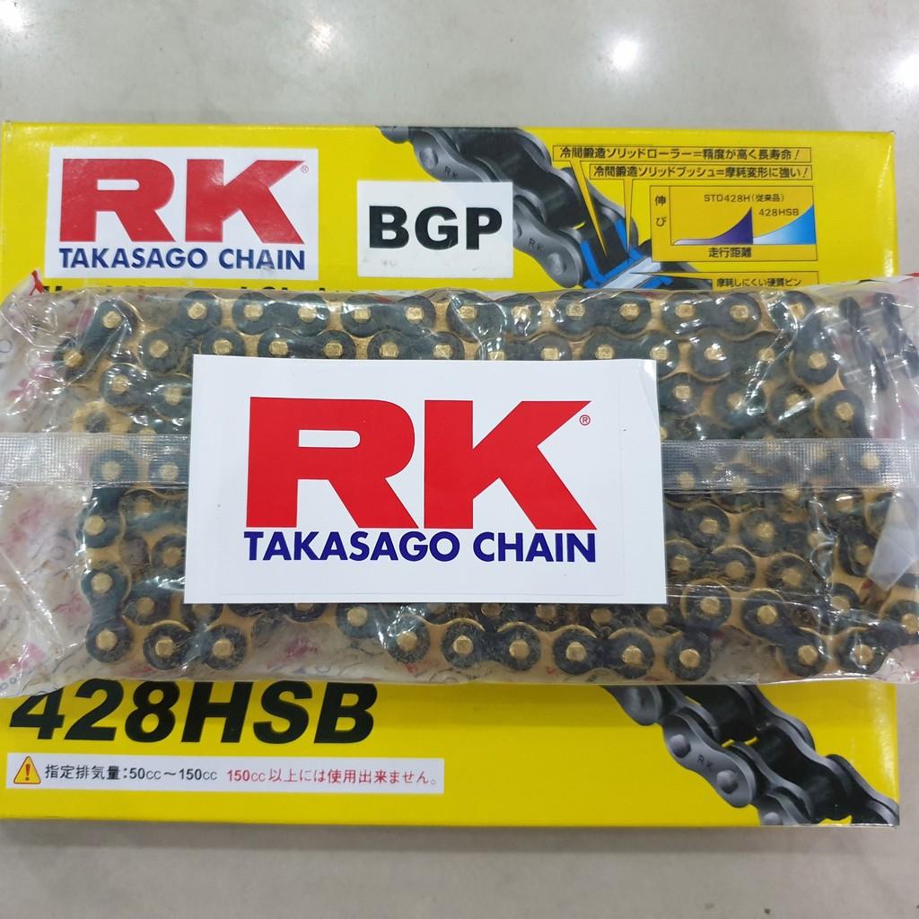 Sên RK vàng đen 428HSB - 124L chính hãng