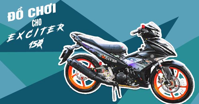 Nâng cấp hiệu năng cho xe Exciter 150 với 5 món đồ chơi