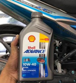 Nhớt Shell Advance Ultra 10W40 1L cho Exciter 150