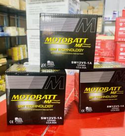Bình ắc quy Khô Motobatt SW12V5-1A  cho Exciter 155, 150, 135